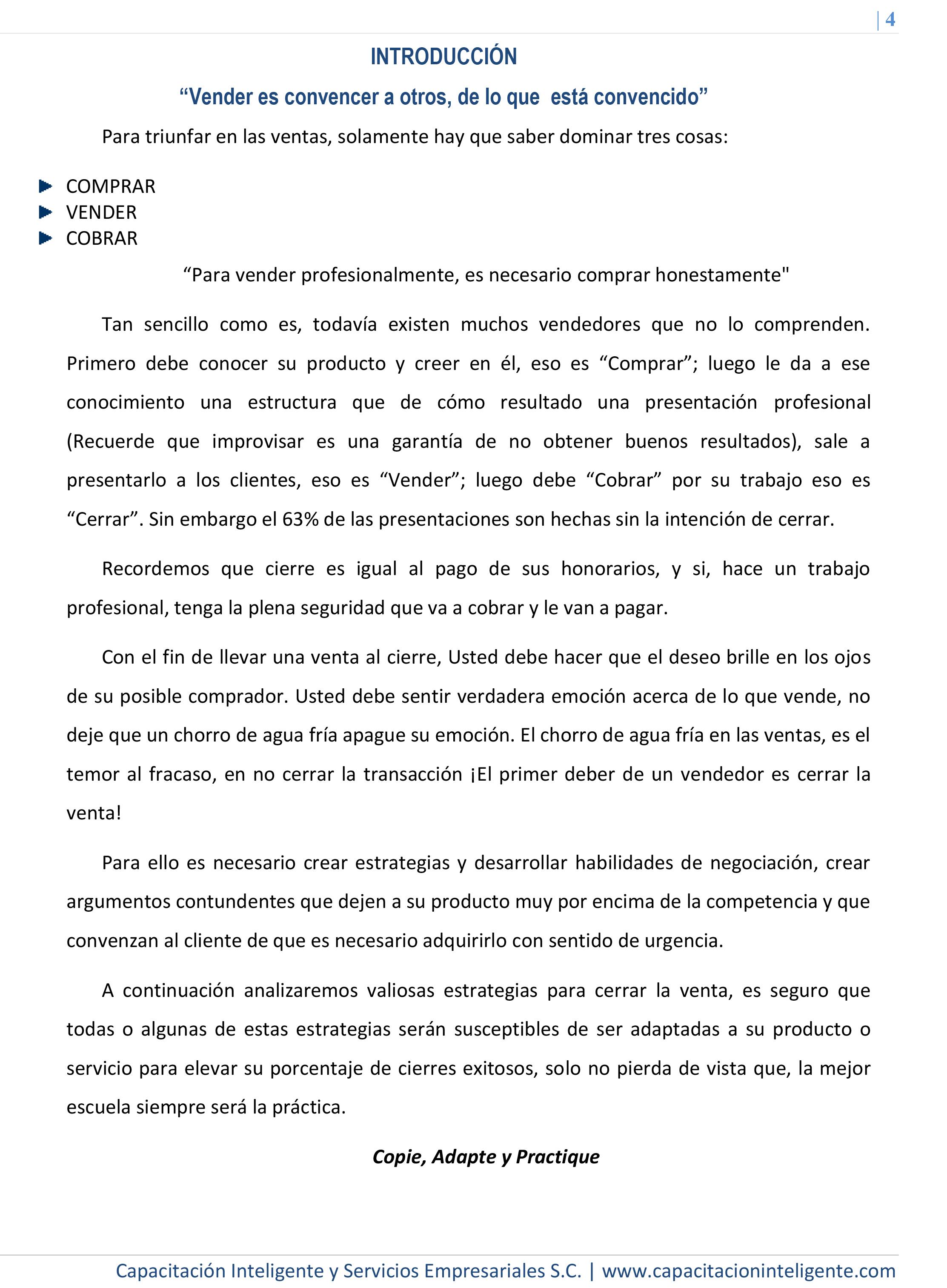 ARGUMENTOS Y TÉCNICAS DE CIERRE